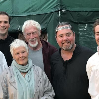 Photo of cast with Dame Judy Dench